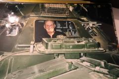 Mike in a Saracen APC at Duxford.