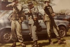 John, Mike and Paul at a re-enactment in Birmingham circa 1979?