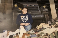Mike at the French Tank Museum in Saumur, Loire Valley circa 1989?