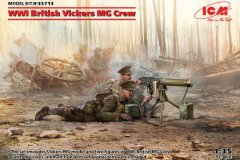 Icm-1-35-WWI-British-Vickers-MG-Crew-Model-Kit