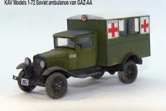 KAV-Models-1-72Soviet-ambulance-van-GAZ-AA