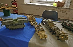 Some of Peter's models. I particularly liked his Centurion ARK