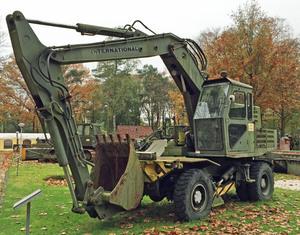 An International wheeled Excavator