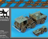 Coming Soon. Black Dog Fire Truck Conversion Kit for Tamiya M561 Gama Goat